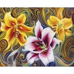 Алмазная вышивка Три лилии