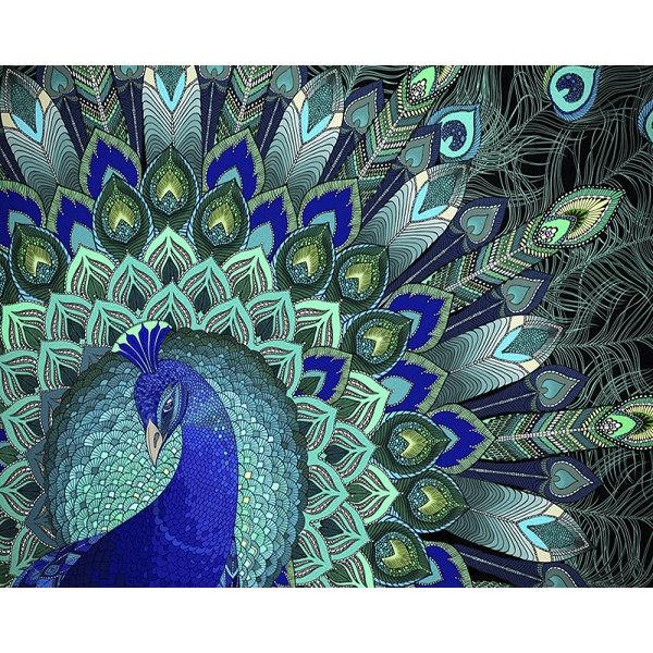 Алмазная вышивка Узоры павлина