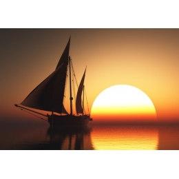 Алмазная вышивка Корабль на закате