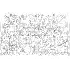 Плакат-раскраска «Зверята-музыканты» (60х100 см)