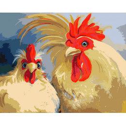 Кочет и курица