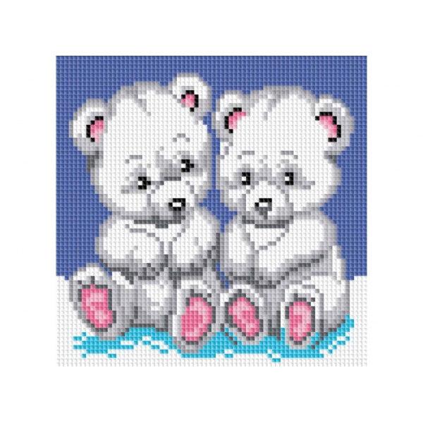 Алмазная вышивка Медвежата