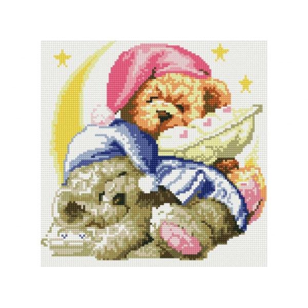 Алмазная вышивка Два медвежонка