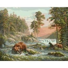 Медведица на охоте