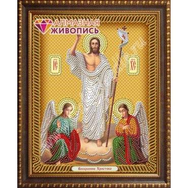 Алмазная живопись Икона Воскресение Христово