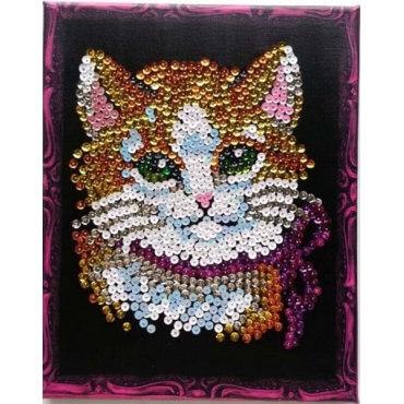 Мозаика из пайеток Кошечка