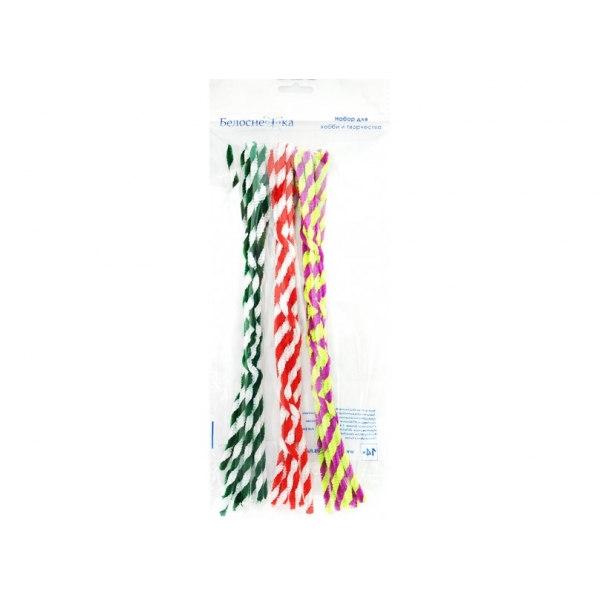 Пушистая проволока Шенил Ассорти 8 цветов 351