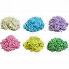 Космический песок 3 кг классический и цветной с песочницей и формочками (картонная коробка)