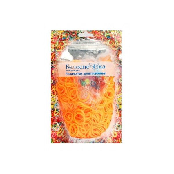 Резинки для плетения персиковые