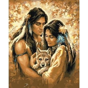 Индейцы и волчонок