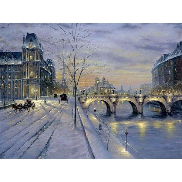 Алмазная вышивка  Зимний город