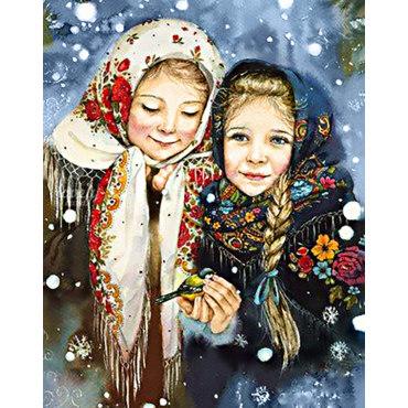Алмазная вышивка Русские красавицы