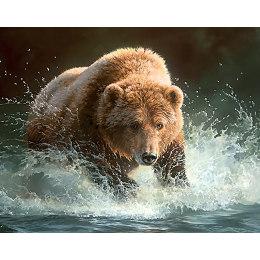 Алмазная вышивка Медведь на рыбалке