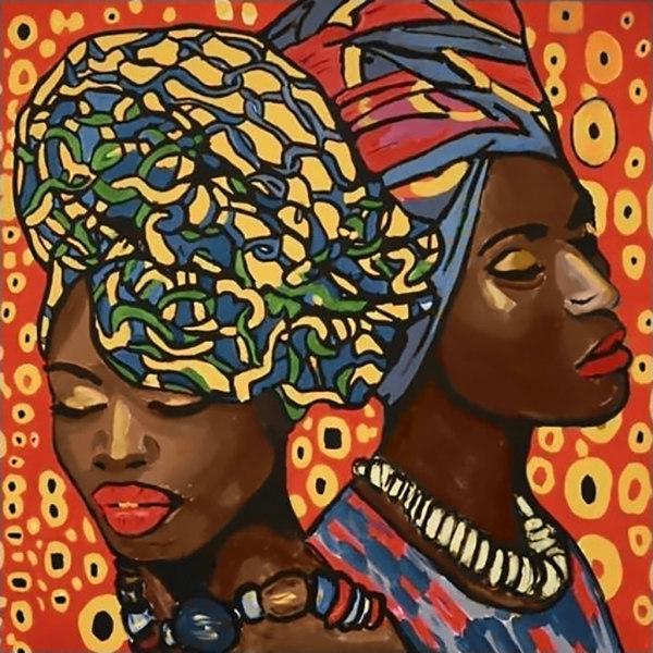 Алмазная вышивка Африканская мода