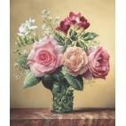 Алмазная вышивка Розы и фрезии