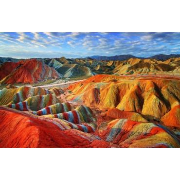 Алмазная вышивка Цветные скалы