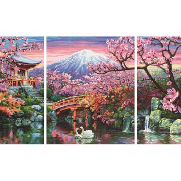 Картина по номерам «Цветущая вишня»