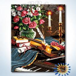 Картина по номерам При свете свечей (Hobbart lite)