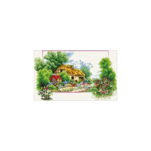 Алмазная вышивка Весенний домик