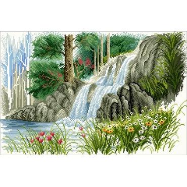 Алмазная вышивка Лесной ручей