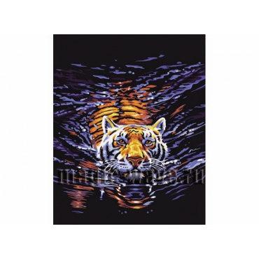 Плывущий тигр