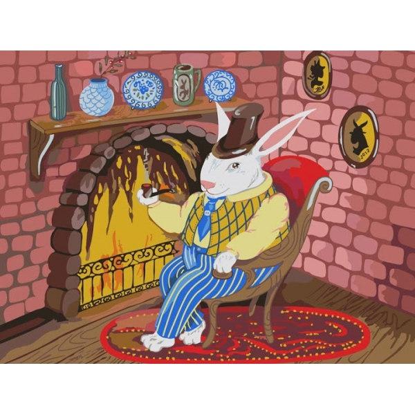Кролик у камина