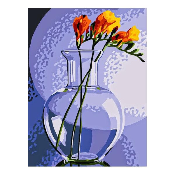 Фрезия в вазе