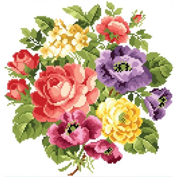 Алмазная вышивка Вальс цветов