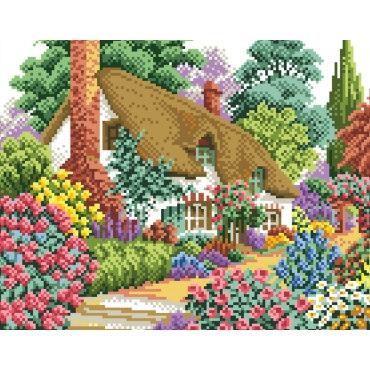 Алмазная вышивка Дом в саду