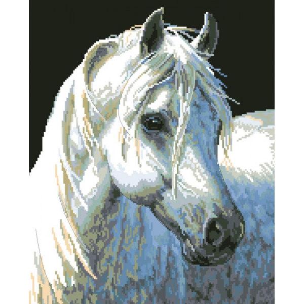 Алмазная вышивка Белый конь