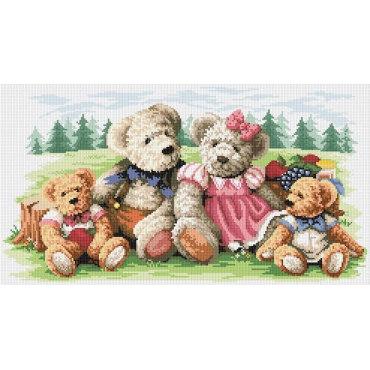Алмазная вышивка Семейка медвежат