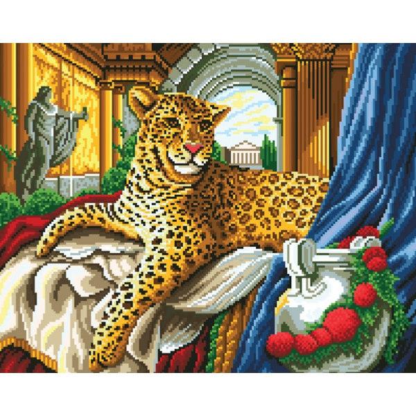 Алмазная вышивка Римский леопард