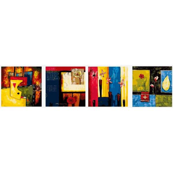 Цветочные абстракции. Квартет