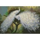 Алмазная вышивка Белые павлины