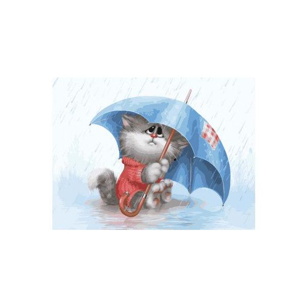 Кошарик под дождем