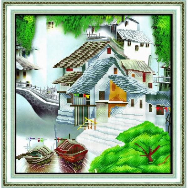 Алмазная вышивка Китайская деревня