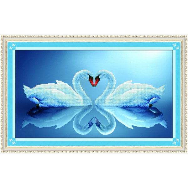 Алмазная вышивка Лебединая пара