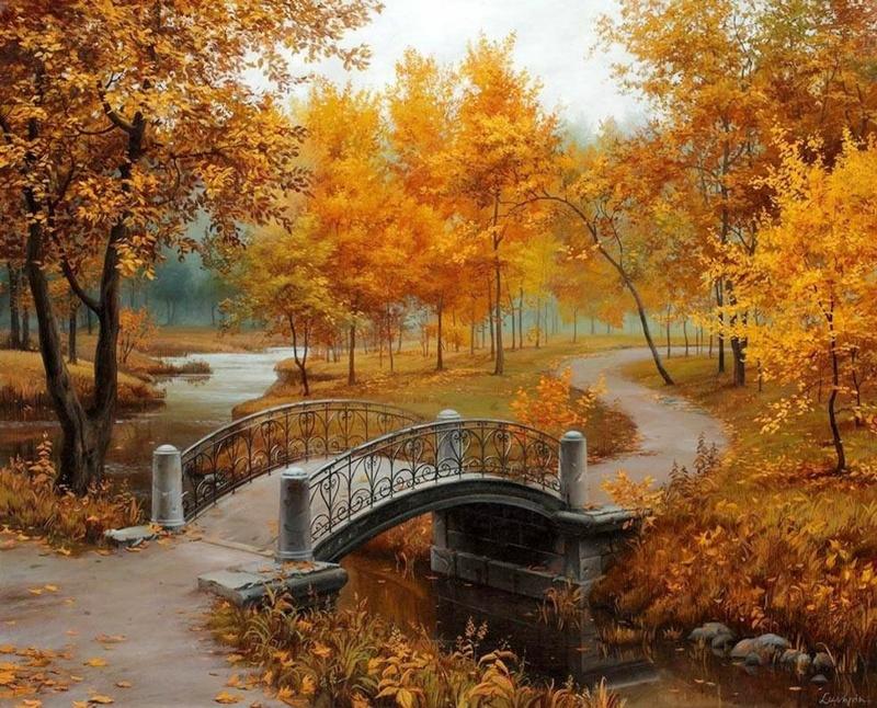 """Раскраска по номерам """"Золотая осень"""""""