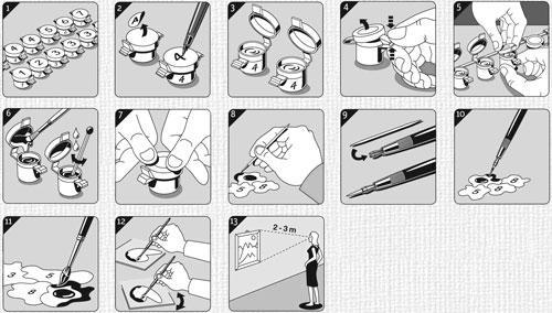 Инструкция по раскрашиванию наборов Schipper