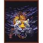 Алмазная вышивка Плывущий тигр
