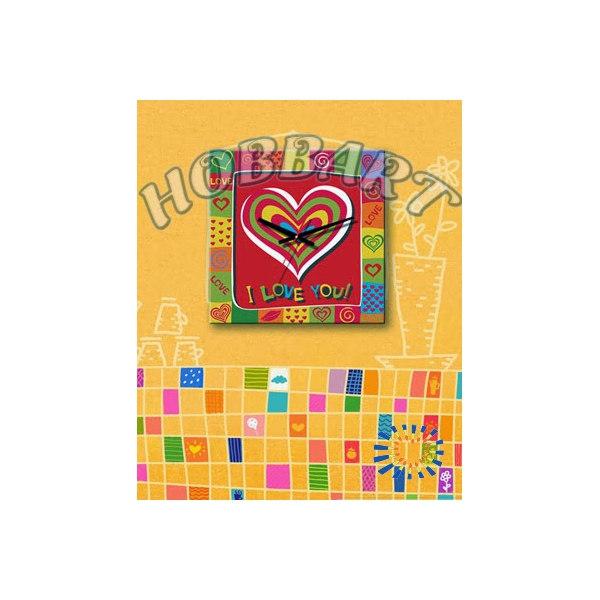 Любовь в сердце (часы-раскраска)