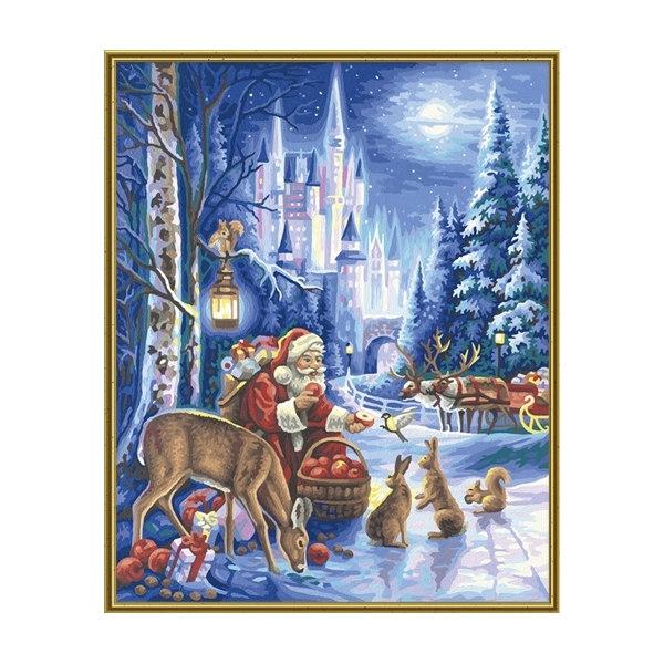 Санта Клаус возле замка Нойшванштайн