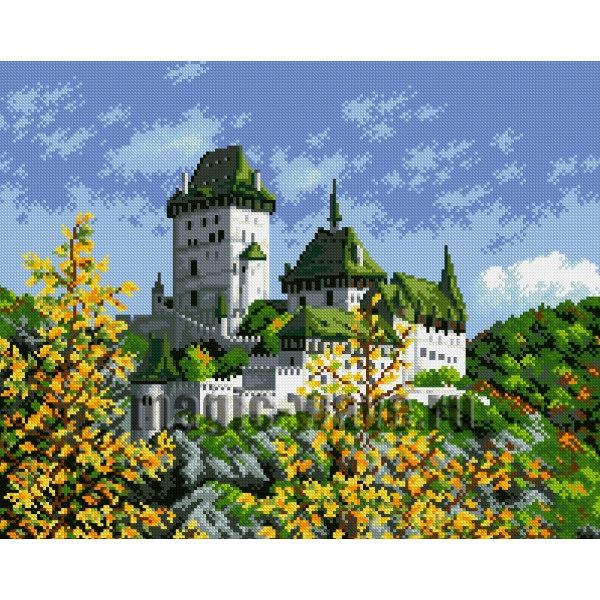 Алмазная вышивка Древний замок