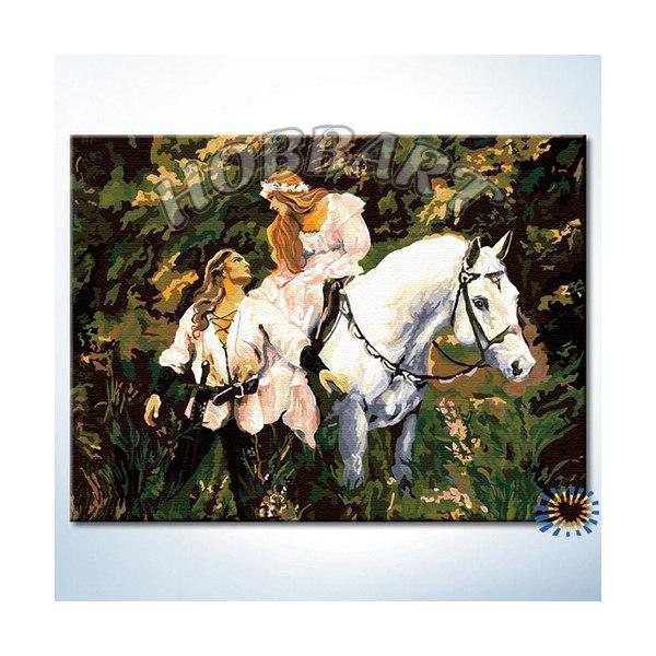 На белом коне (без подрамника)