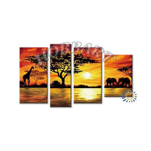 Африканский пейзаж (без подрамника)