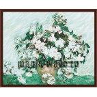 Белые розы Ван Гог
