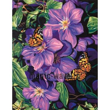 Клематис и бабочки