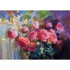 Алмазная вышивка Акварельные розы