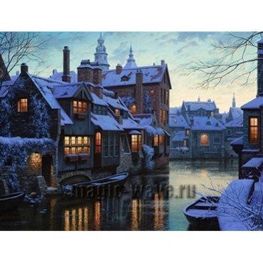 Алмазная вышивка Зима в Венеции