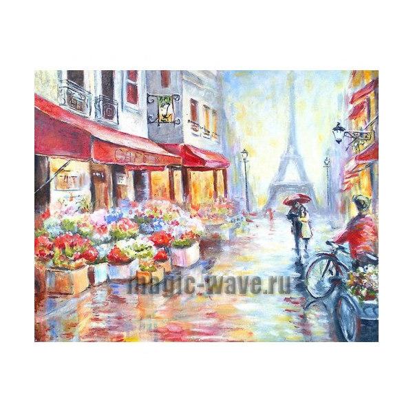 Алмазная вышивка Вдвоем по Парижу